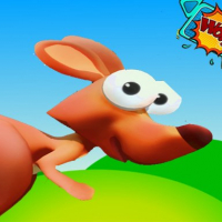 New game kangaroo jumping and running